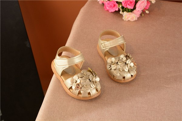 Girls sandals kids beach shoes Korean version of soft bottom flowers children's baby toddler shoes princess shoes XXP35