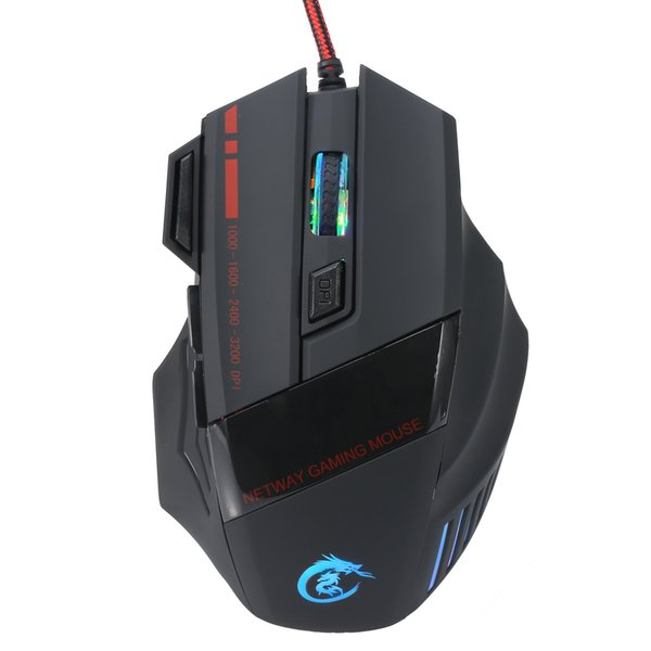 2017 nuevo 5500 DPI 7 Botones LED Optical USB Ratón con cable Ratones Gamer mause mouse Gaming Para Pro Gamer