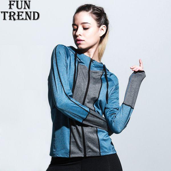 Kadın Spor Ceket Fermuar Hoodie Kazak Spor Kadın Koşu Ceket Kış Koşu Ceket Yoga Gömlek Yoga Üst Spor Giysileri