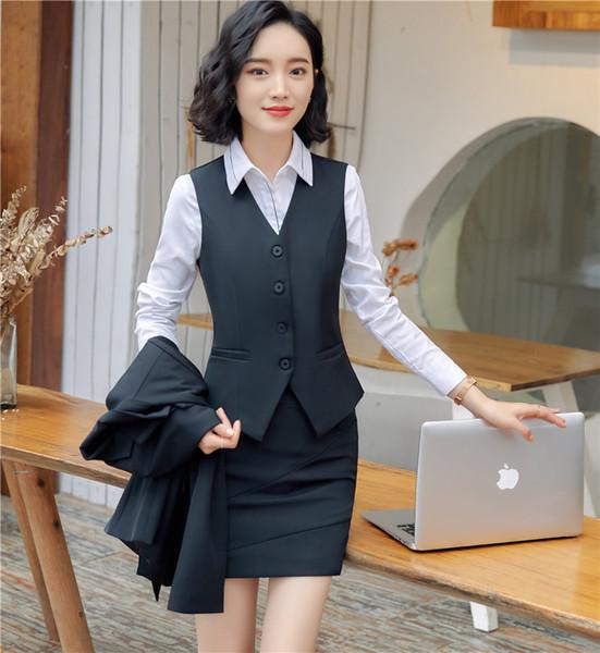 black vest+skirt