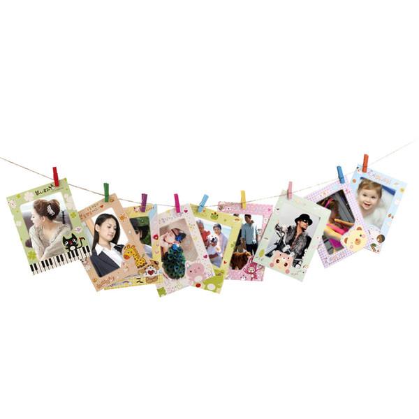 9 stücke 6 zoll kreative geschenk diy wohnkultur büro bilderrahmen wandbehang papier bilderrahmen wand bild album haus dekor geschenk