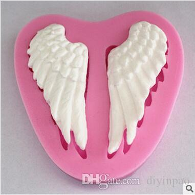 Hot Selling Cake Making Moulds Wings Of The Angle Baking Moulds High Quality Baking Tools Dessert Biscuits Making Model Free Shipping