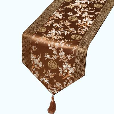 kahverengi bambu çiçek 230x33 cm