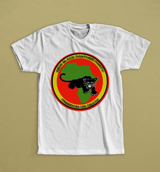 NEW BLACK PANTHER PARTY FREEDOM OR DEATH MALCOLM X WHITE T-SHIRT S M L XL 2XL Brand Cotton Men Clothing Male Slim Fit T Shirt