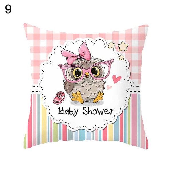 Owl animal digital printing peach skin leather sofa car pillow cushion cover set to customize pillowcase pillow cover