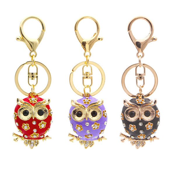 CUTE TAN OWL BELL CHARM Cell Phone Mobile Lanyard Strap Brass Tiny Gift Bird NEW