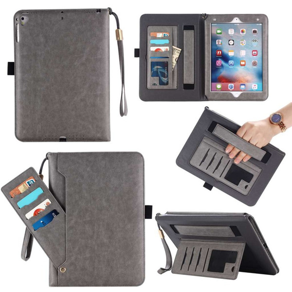Ultra Thin Folio PU Leather Cover For iPad mini 4 A1538 A1550 Tablet Case Stand Smart Wallet Cover Hand Hold+Stylus Pen+Film.