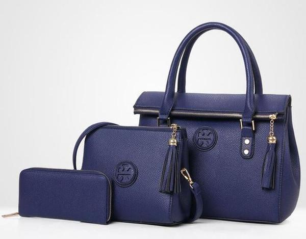 Lady Hand bag PU Leather Tassel Handbag 3 Pcs Composite Bags Set Lady Shoulder Crossbody Women Female Wallet Clutch Cross Body Drop Shipping