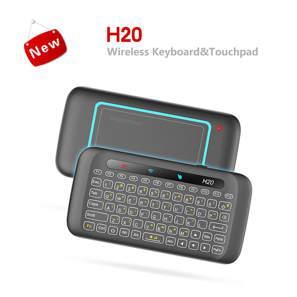 Mini 2.4G Wireless Keyboard Air Mouse IR Leaning H20 Backlit Keyboard Multi-touch Touchpad For Laptop X96 Mini TV Box Android Tablet PC