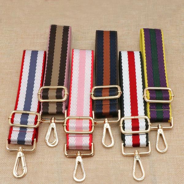 Breite 3,8 cm Taschenriemen Nylon Stoff Baumwollfaden Kontrastfarbe Schulterriemen Einzelne Schultertasche Zubehör einstellbar 82 ~ 150