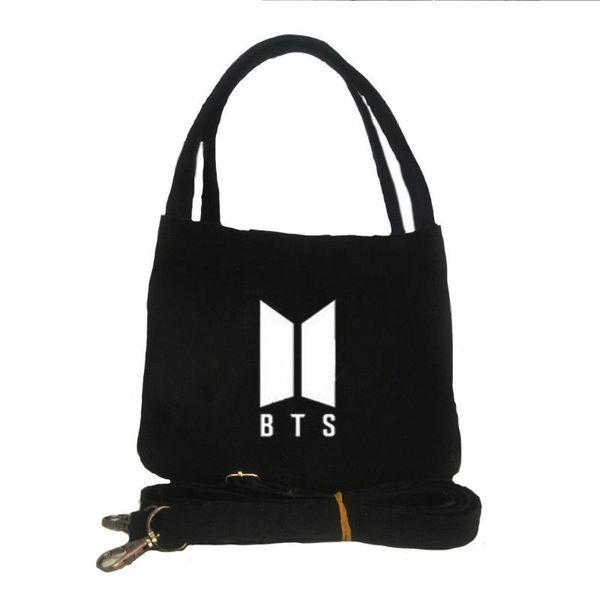 Newtall Fashion KPOP Korea BTS Canvas Shoulder Bag Lunch Box Bento Tote  Picnic Bag For Women Bangtan Boys Jin V New Handbag 1e8d9caa249bc