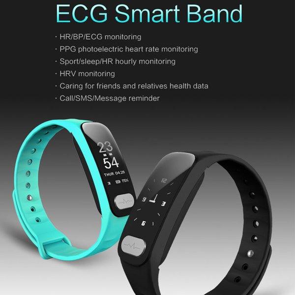 R11 ECG PPG Smart Band 0.96 inch Screen Heart Rate Blood Pressure Sleep Monitor Smart Wristband With Call SMS Reminder Thermometer DHL