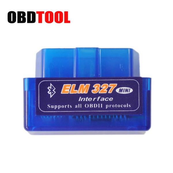 Versión más reciente Super Mini ELM327 Bluetooth V2.1 OBD2 Mini Elm 327 herramienta de escáner de diagnóstico del coche para ODB2 protocolos OBDII