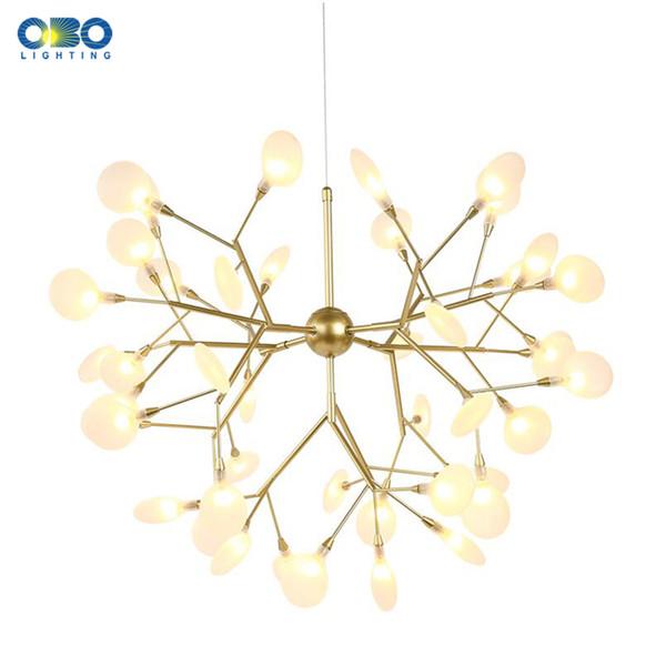 Postmodern Gold Iron Glass Pendant Light Mall Hotel Hall Tea house Pendant Lamp Lighting Atmospheric chandelier Plating G4 110-240V