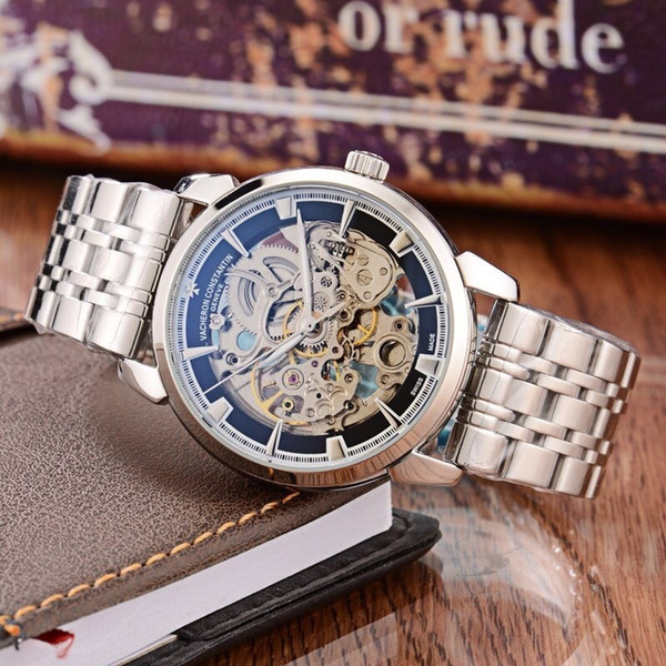 2018 Watch Type: Fine Men's Watch Strap: Real Leather Strap Movement: Top Automatic Mechanical Movement Domineering Fashion