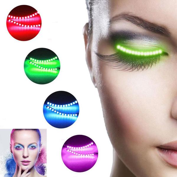 Cílios LED Luminosa Luminosa Flash Cílios Brilhantes Maquiagem Eye Lash Para Clube Bar Halloween Favor de Festa OOA5487