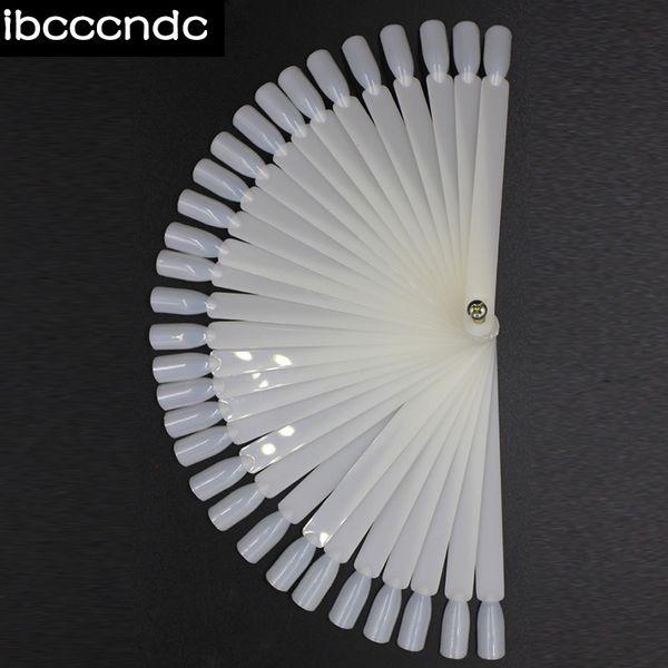 50PCS False Nail Tips Fan Shaped Fake Nail Tips Polish UV Gel Sticker Decoration Display Stick Salon Art Design Tools Set