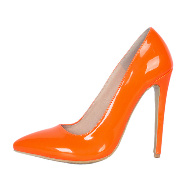 6e925212f93f Kolnoo Simple Style Casual Handmade Style Ladies Women High Heel Pumps  Patent Leather Pointy Slip-on Party Prom Office Fashion Shoes A052