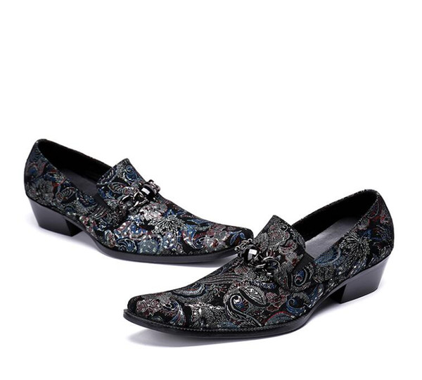 83a7598d97 2018 New Style British Style Brand embroidery Casual Leather Shoe Business  Office Men Dress Loafers Fashion