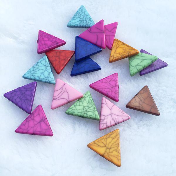 16mm 30 adet Diy Craft Saç Aksesuarı için Karışık Düz Geri Reçine üçgen Cabochon diy dekorasyon Takı küpe accessories-S14A16