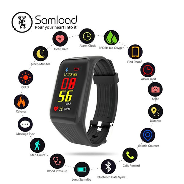 K1 2018 Smart Watch Wristband Waterproof Bracelet Bluetooth Sport Band Heart Rate Card Camera For IOS iPhone Android Phone