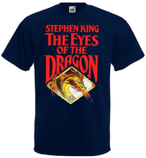 Men Brand Clothihng Top Quality Fashion Mens T Shirt 100%Cotton Eyes of the Dragon v.2 T-shirt navy blue Poster all sizes S...3XL