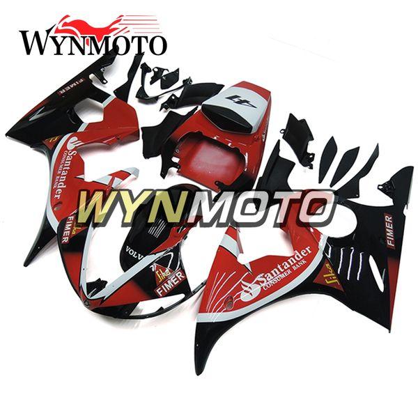 Carrosserie Injection Moto 2003-2004 R6 Rouge Noir Kit De Carénage Pour Yamaha YZF600 R6 YZF-600 R6 / R6S '06 -09 2003 2004 Kits De Carrosserie Cowlings