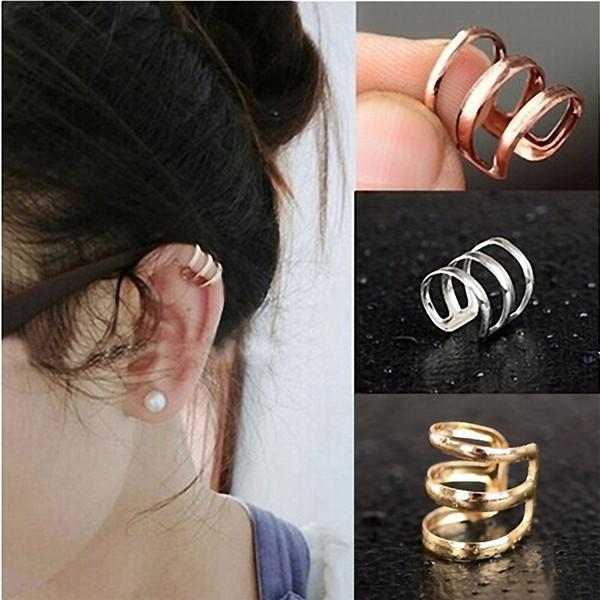 Crystal Earrings Punk Rock Ear Clip Cuff Wrap Earrings 10.4