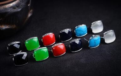 Spedizione gratuita 6 scelte Donne Genuine Silver / sand stone // coral // opal Art Style Marcasite Orecchini STONE