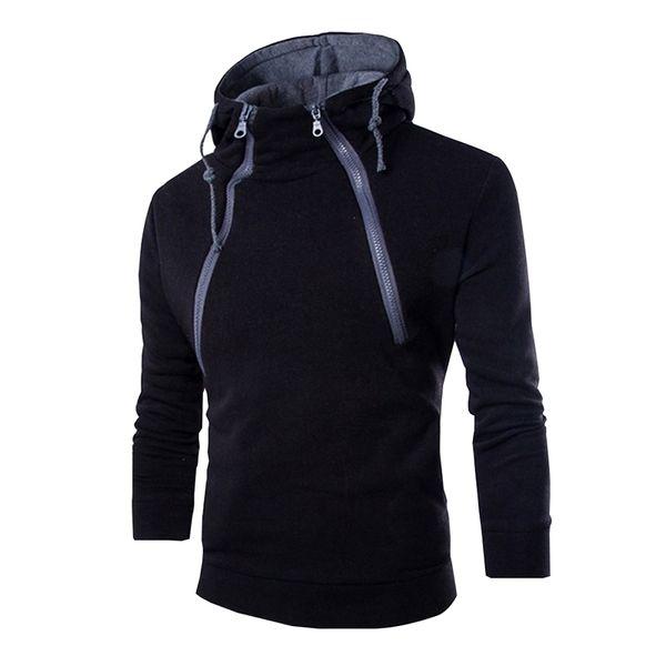 2018 Automne Nouveaux Pulls Avec Fermeture Éclair Manches Longues Hommes Designer Casual Hoodies Pulls Streetwear Noir Blanc Sweat-shirts