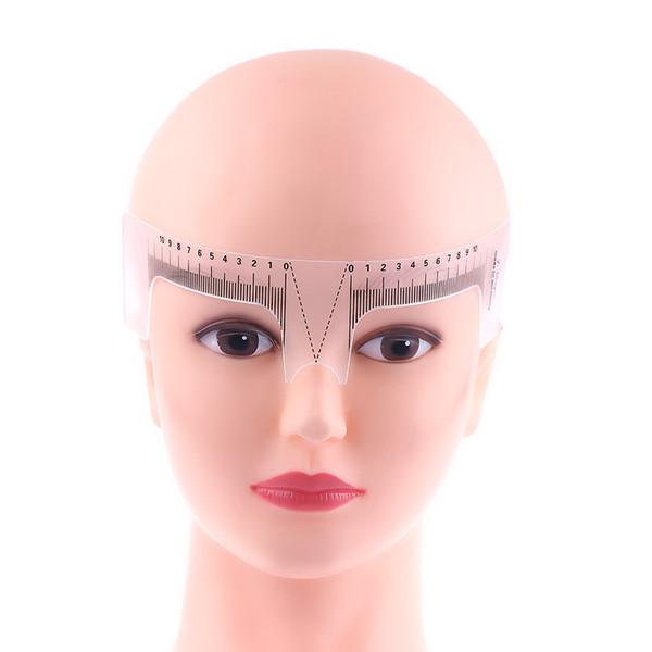 1 STÜCK Neue Mode Wiederverwendbare Semi Permanent Augenbraue Schablone Stirn Messen Microblading Lineal Tattoo Supplies Make-Up-Tool Schönheit