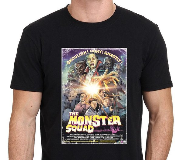 MONSTER SQUAD Vintage Movie Monster Poster 80's Men's T-Shirt Size S-to-3XL Cotton Low Price Top Tee for Teen Boys T Shirt