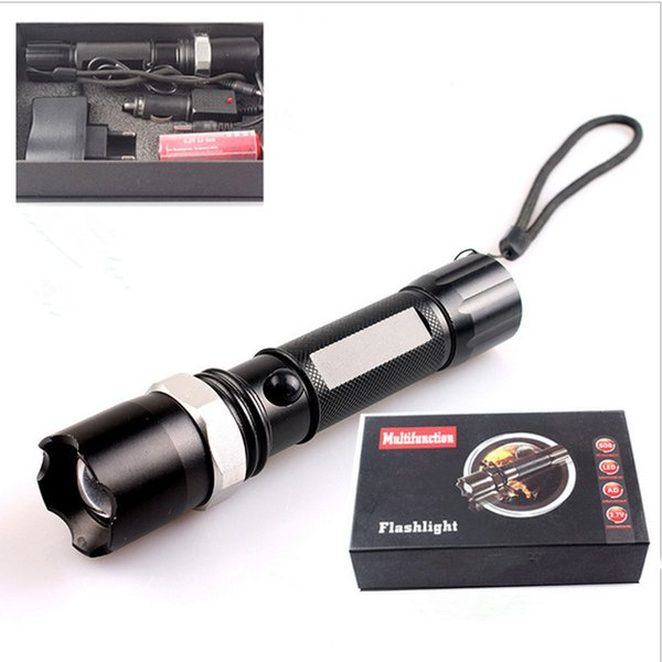 Aluminum alloy multi-function rechargeable flashlight - outdoor lighting zoom led glare long-range flashlight