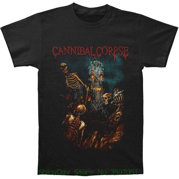 Yaz Erkek Baskı T-shirt Cannibal Corpse erkek İskelet Ağacı - Bir İskelet Alanı T-shirt Siyah