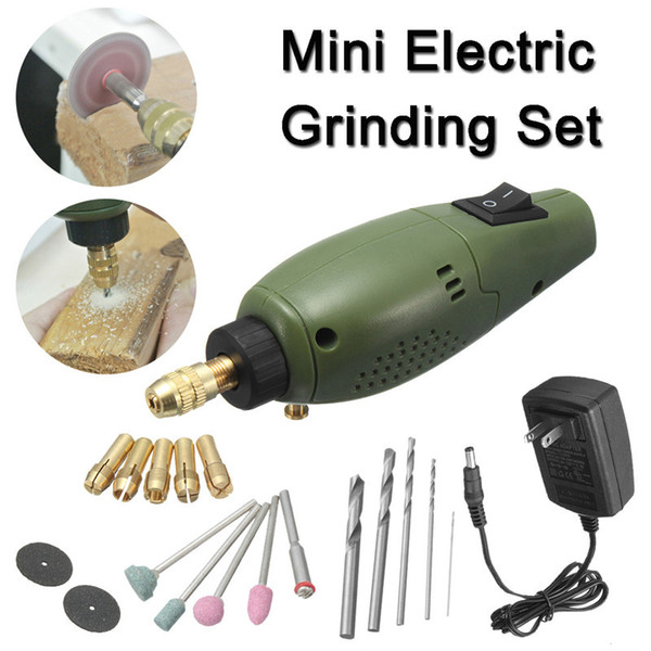 Freeshipping Electric Grinder Mini Drill For Dremel Grinding Set 12V DC Dremel accessories Tool for Milling Polishing Cutting Engraving