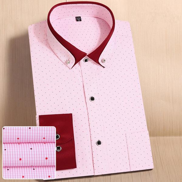 High quality Brand Men's classic Striped Shirt New Leisure Fashion Soft Long sleeve Office Men Business Social Shirts M568