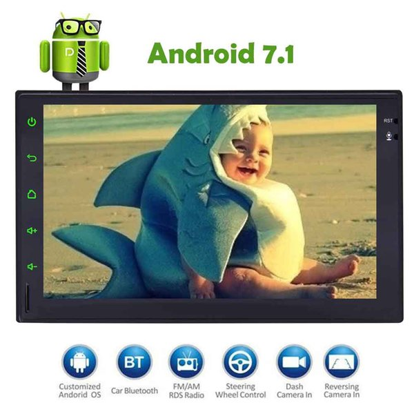 EinCar Android 7.1 Car Multimedia Player Car Stereo 7'' Double 2Din Headunit GPS Navigation No DVD Radio Audio System 1080P Video Play