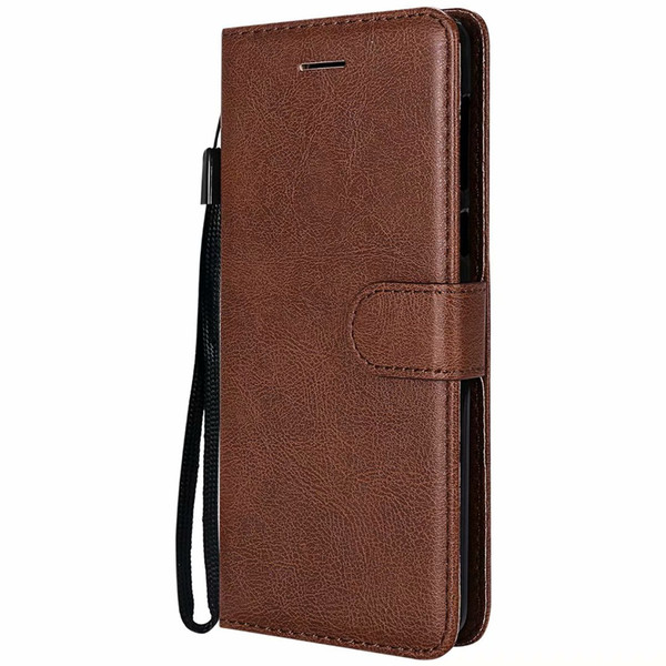 Wallet Case For Motorola Moto G6 2018 Flip back Cover Pure Color PU Leather Mobile Phone Bags Coque Fundas For Moto G6 2018