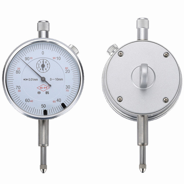 best selling Freeshipping Dial Indicator 0-10mm 0.01mm With Lug Dial Gauge Micrometer Caliper Table Of Measuring Tools