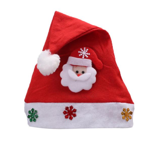 Kind-Beifall-Weihnachtshut-Kind-Weihnachtshut-Weihnachtsmann-Ren-Schneemann-Partei-nette Kappen-Hochzeits-Dekoration
