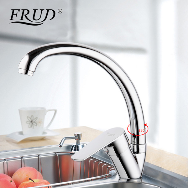 wholesale new silver High Quality water mixer tap kitchen sink faucet torneira 360 kitchen sink Mixer water taps kitchen mixer r41105
