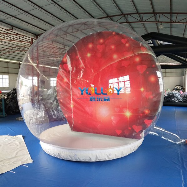 Popular 3m decoration ball clear PVC inflatable snow globe ball different theme for choosen free blower