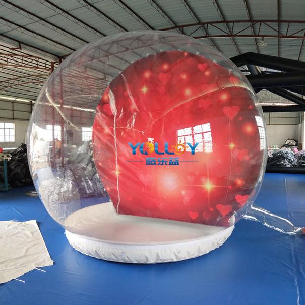 Balle de décoration populaire 3m clair PVC boule à neige gonflable boule thème différent pour choisi ventilateur libre