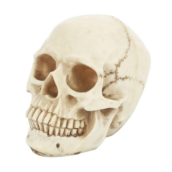 Résine Simulé Ornement De Crâne Jouets Simulé Ornement De Crâne Halloween Reptile Disposition Drôle Tricky Jouets Intéressant Créatif Horreur