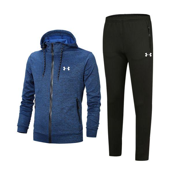 Chándal de diseño para hombre Mejor versión Primavera Otoño MensTracksuits Imprimir Zipper Suit Tops + Pants Mens Casual Sport Sweatshirt Sport Suits