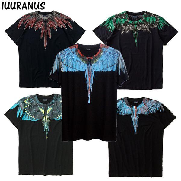 IUURANUS Wings Camisetas Summer Men Women Italia Marcelo Burlon Camiseta RODEO MAGAZINE MB Top Tees Moda Marcelo Burlon Camisetas