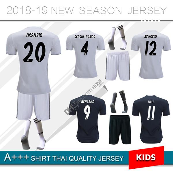 e69aeb035 2019 real madrid soccer jersey ASENSIO BALE ISCO Home RAMOS BENZEMA shirt  ronaldo 18 19 away