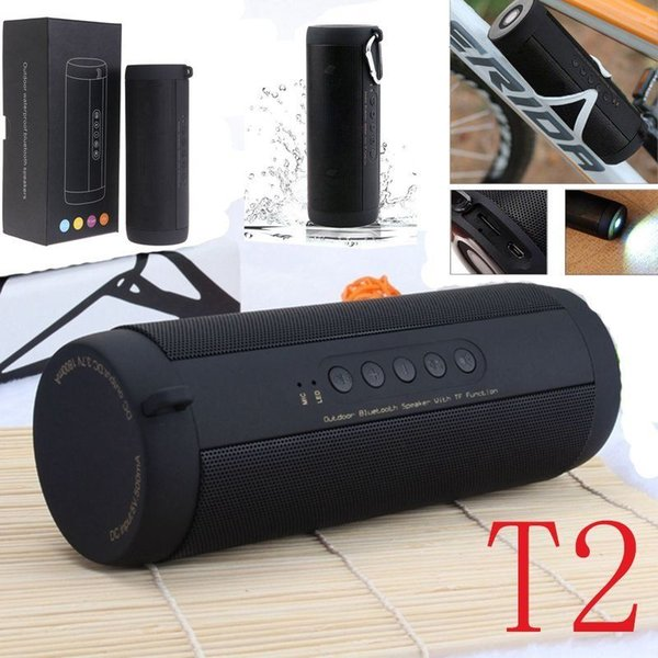 T2 Portable Wireless Bluetooth Waterproof Outdoor Cycling Flashlight Speaker HOT