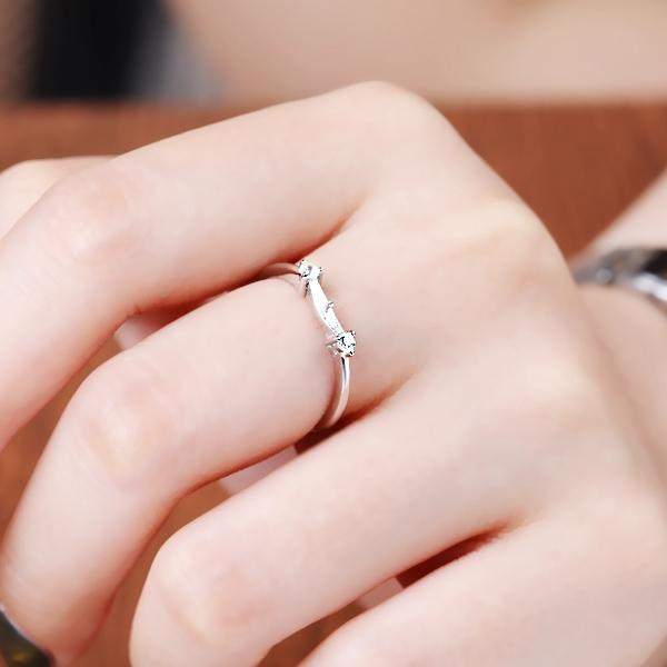 925 Sterling Silver 5-10mm Pearl or Round Bead Semi Mount Ring for Women White Gold Plated DIY Stone Setting