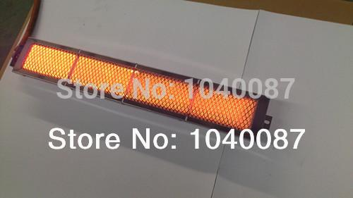 high qulaity longger burner gas honeycomb ceramic plate burner infrared with nozzle(injector)for bbq,kebab,roast etc